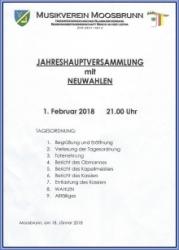 Generalversammlung mit Neuwahlen 2018
